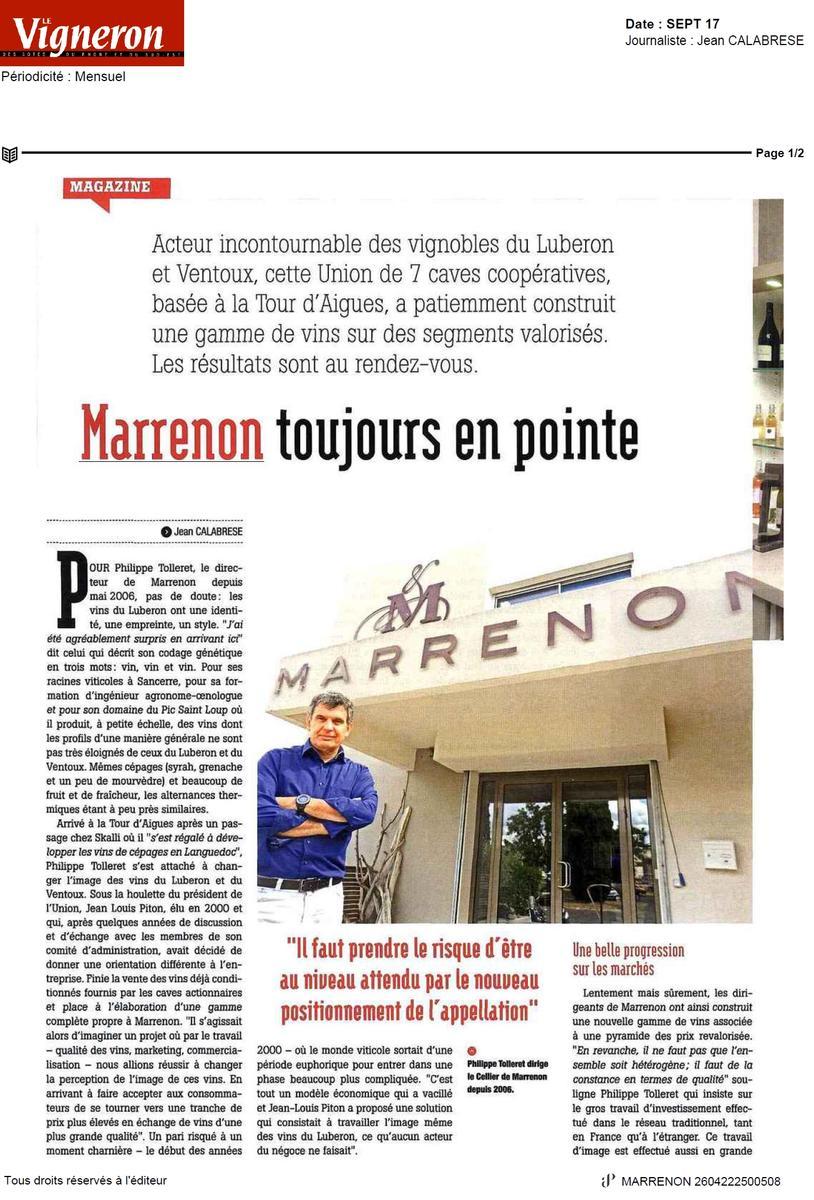 Interview P. Tolleret Le Vigneron