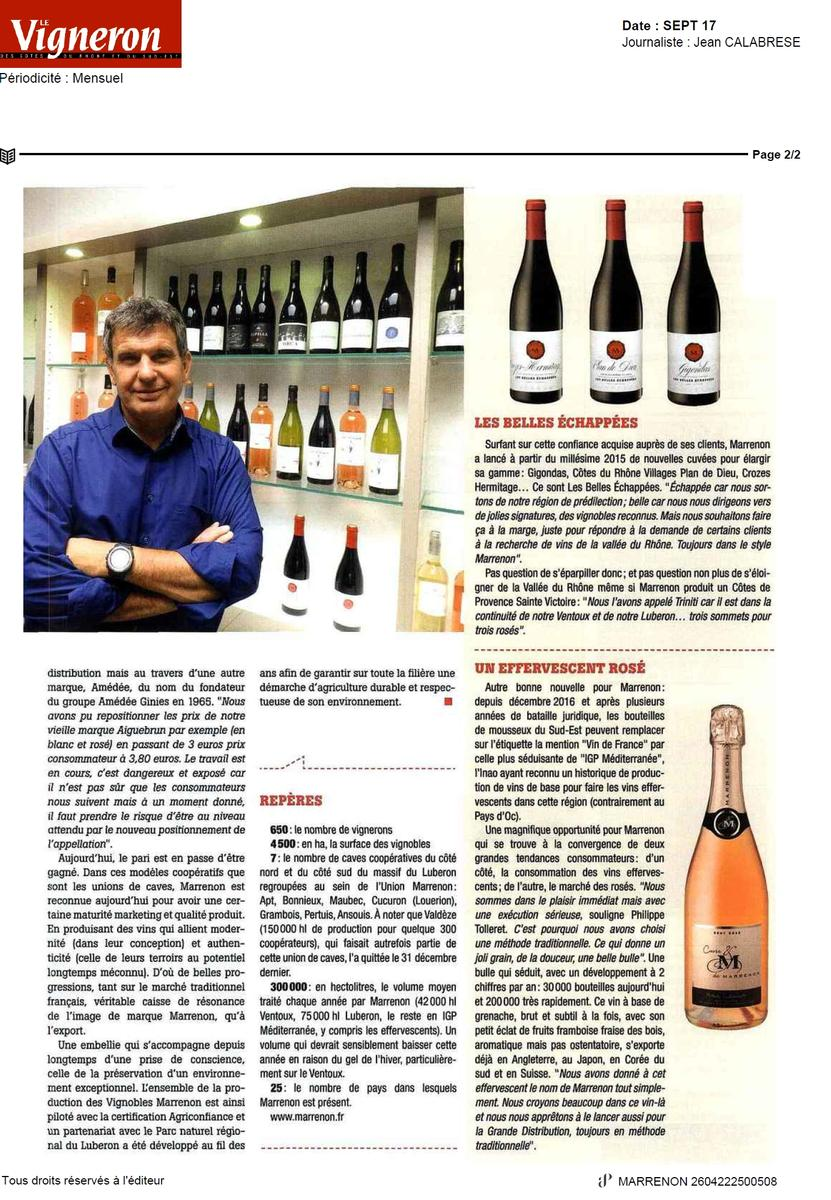 Interview P. Tolleret Magazine Le Vigneron