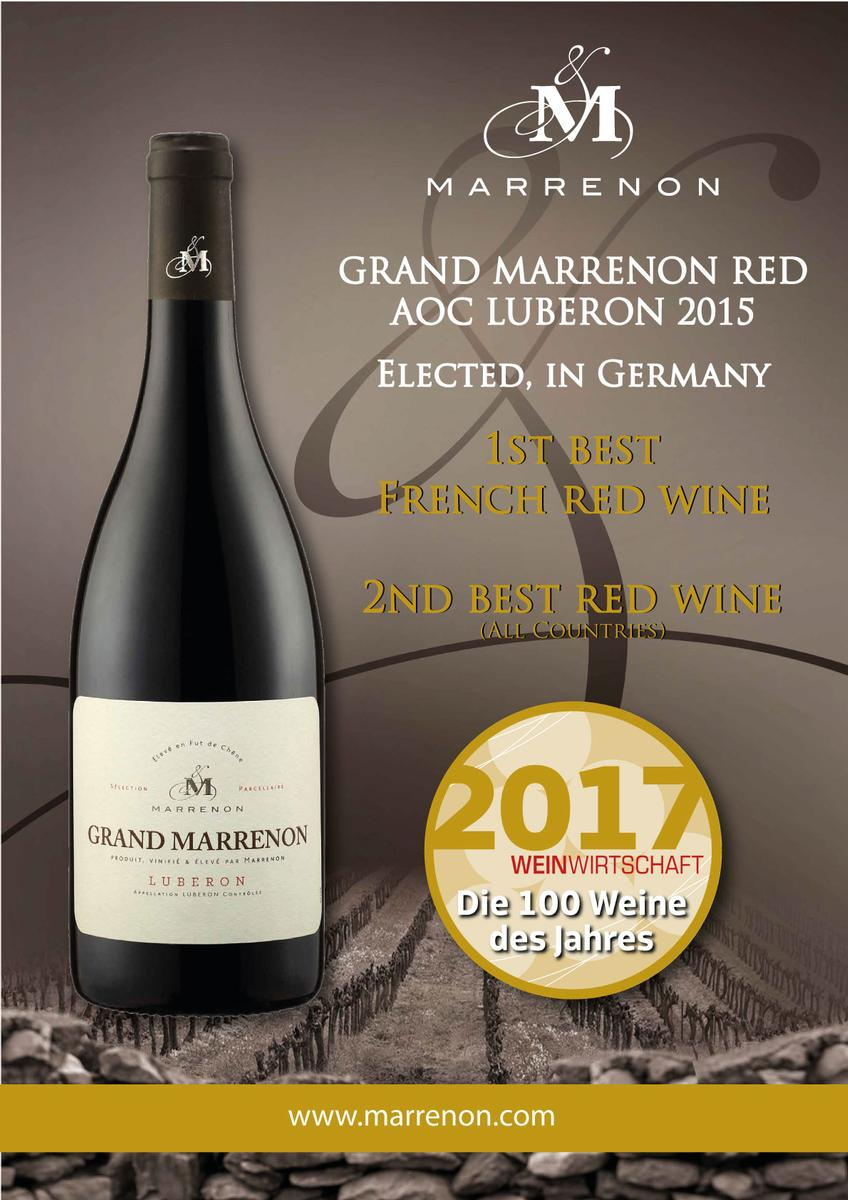 Grand Marrenon rouge Meilleur Vin rouge en Allemagne Marrenon