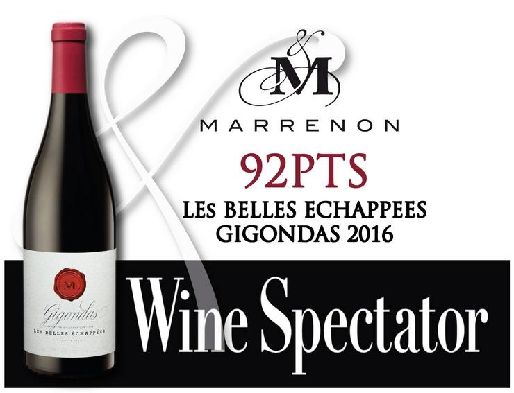 Gigondas 2016 les Belles Echappées Marrenon 92 Wine Spectator