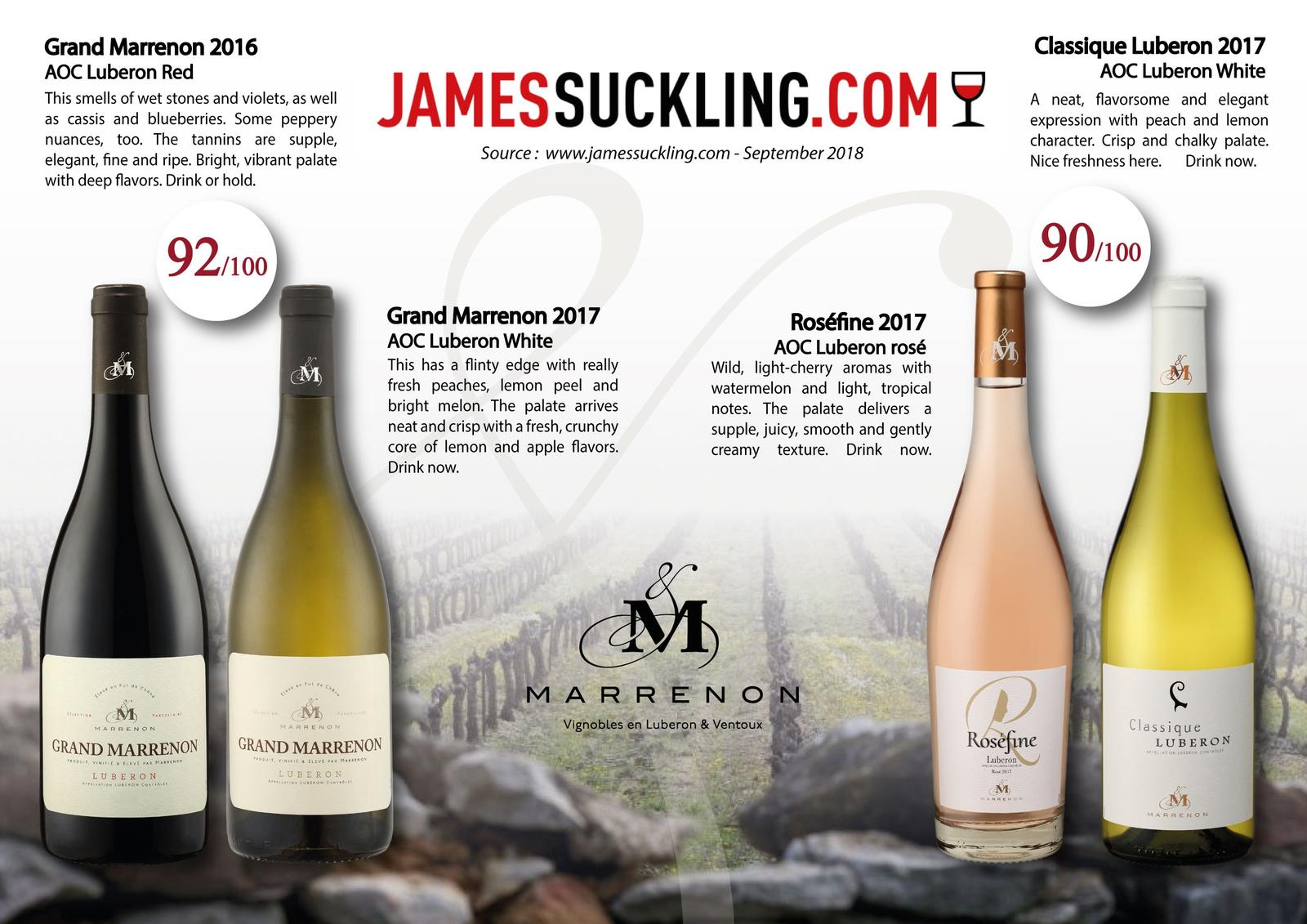 Notes James Suckling Marrenon Sept 2018