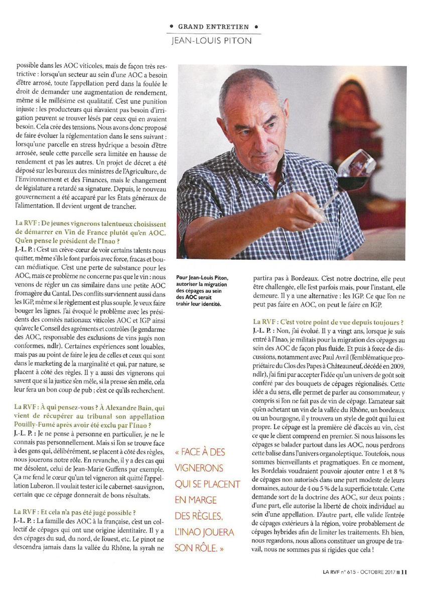 Interview JL Piton RFV Président Marrenon